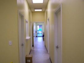 Office interior hallway