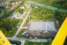 Aerial view 817 C.Y. of concrete pour