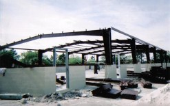 Metal door frames and trusses