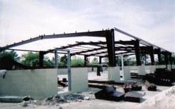 Metal door frames and trusses