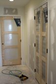 Progress on 6/11/17 of closet doors
